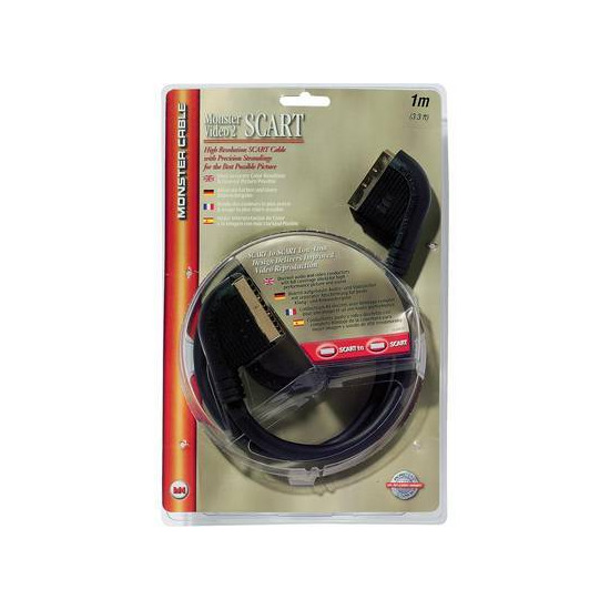 Monster Cable Gold Scart Cable 1m
