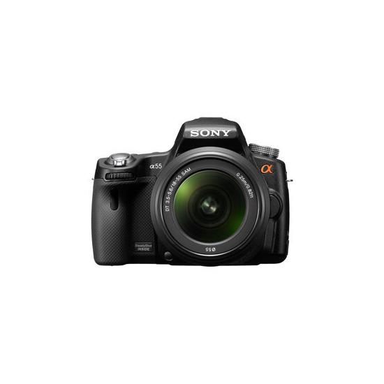 Sony Alpha SLT-A55VL with 18-55mm lens