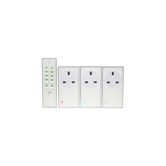 Lightwave Connect Series On/Off Plug-in Kit (3 Pack) with Remote - White
