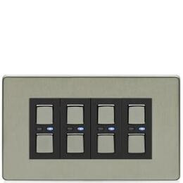 Lightwave Connect Series Dimmer Switch (4 Gang) - Stainless Steel