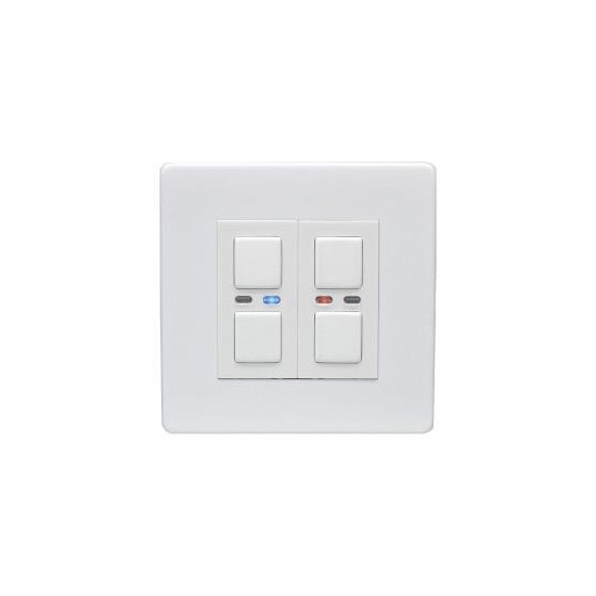 Lightwave Connect Series Master & Slave Dimmer Switch - White Metal