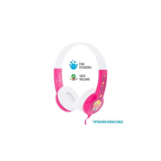 BuddyPhones Discover Wired Headphones - Pink