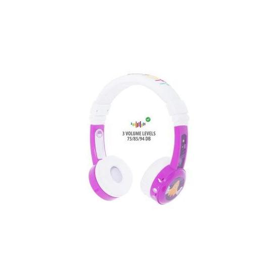 BuddyPhones InFlight Wired Headphones - Purple