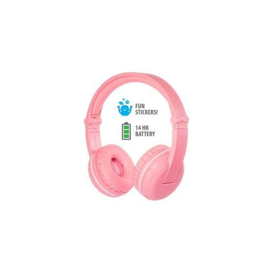 BuddyPhones Play Wireless Headphones - Sakura Pink