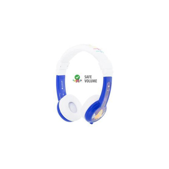 BuddyPhones Connect Wired Headphones - Blue
