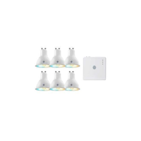 Hive GU10 Tuneable 6 Pack with Hub Smart Bulbs - Warm White