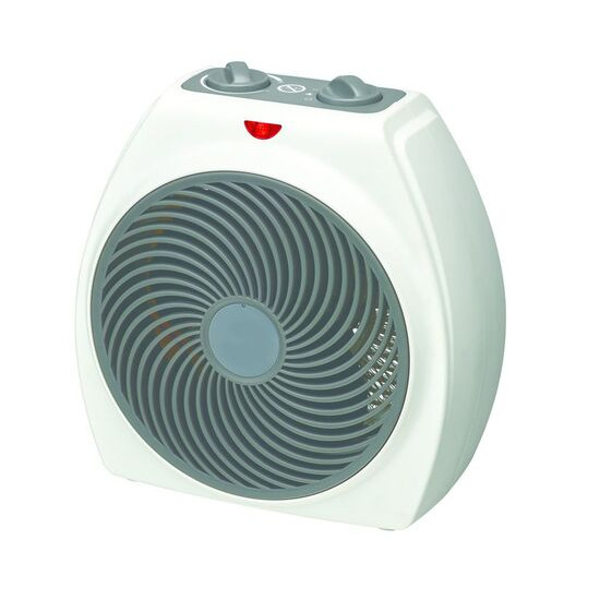 ESSENTIALS C20FHW18 Portable Hot & Cool Fan Heater - White