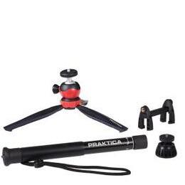 PRAKTICA 4-in-1 Desktop Tripod & Monopod Kit for Camera & Smartphones - Black Reviews