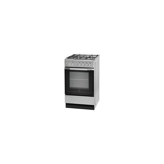 Indesit IS5G1PMSS/UK 50 cm Gas Cooker - Silver