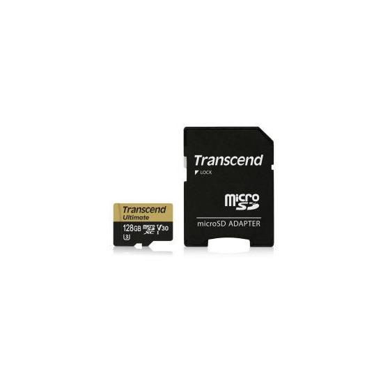 Transcend 128GB UHS-I U3 MLC MicroSD Card with Adapter