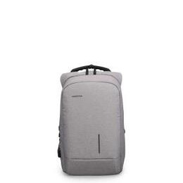 Kingsons Smart Anti Theft USB Charge Series 15.6 Laptop Backpack - Light Grey Reviews