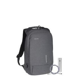 Kingsons Anti Theft USB Charge Backpack inc 1.5m Pro Lightning Cable & Powerbank