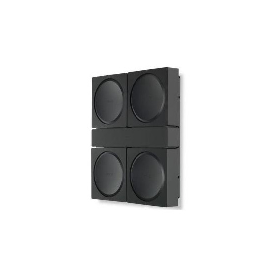 Flexson Wall Mount for 4 Sonos Amps - Black