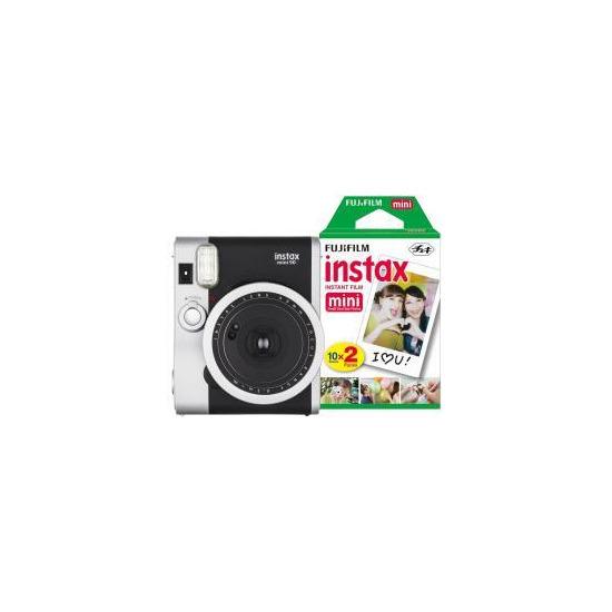 Fujifilm Instax Mini 90 Instant Camera inc 30 Shots - Black
