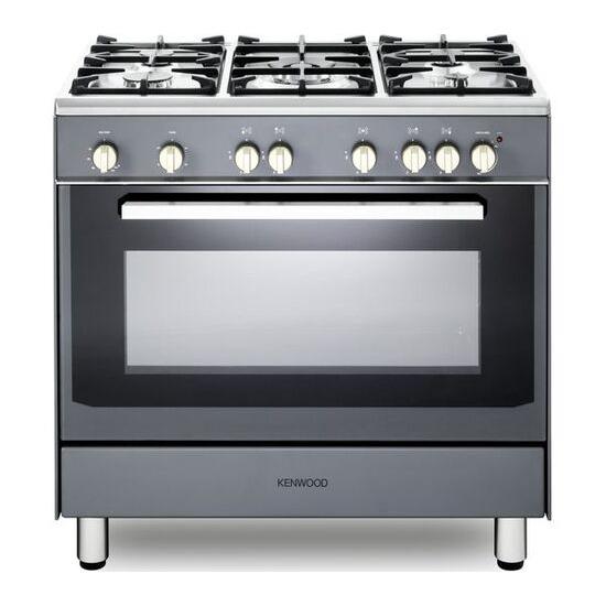 Kenwood CK307G SL 90 cm Gas Range Cooker - Grey & Chrome