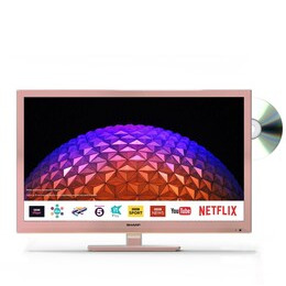 """Sharp LC-24DHG6001KFR 24"""" Smart HD Ready LED TV with Built-in DVD Player - Rose Gold Reviews"""