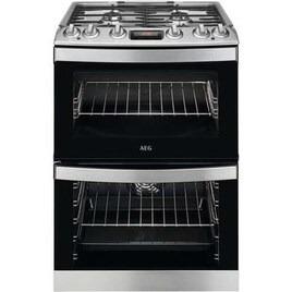 AEG CKB6540ACM 60 cm Dual Fuel Cooker - Stainless Steel Reviews