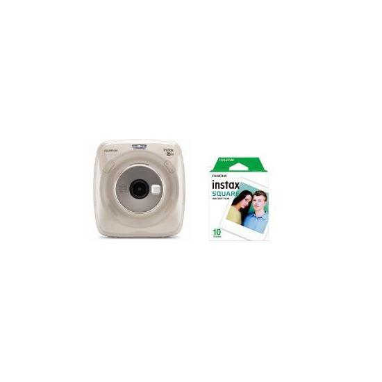 Fujifilm Instax Square SQ20 Hybrid Instant Camera - Beige + 10 Shots