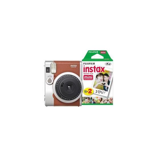 Fujifilm Instax Mini 90 Instant Camera inc 30 Shots - Brown