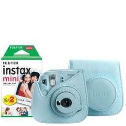 Fujifilm Instax Mini 9 Instant Camera inc 30 Shots & Case - Ice Blue