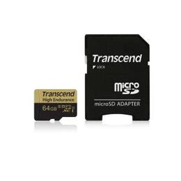 Transcend 128GB UHS-I U1 High Endurance MicroSD Card with Adapter