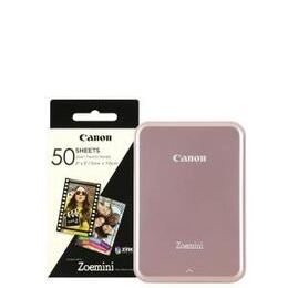 Canon Zoemini Slim Body Pocket Sized Photo Printer inc 60 Prints - Rose Gold