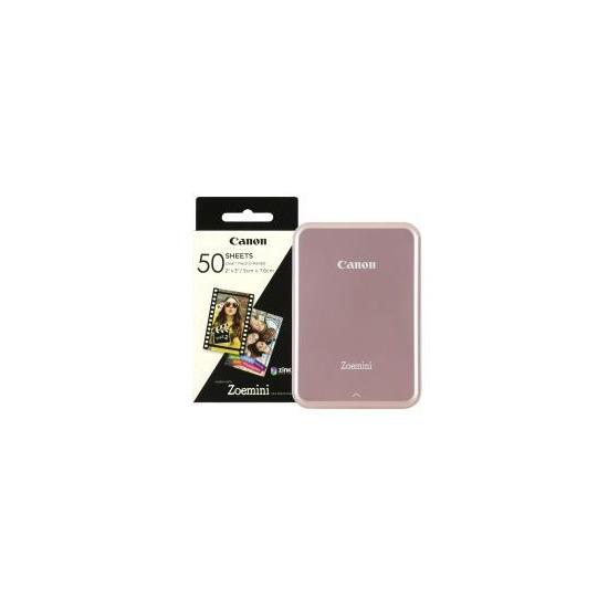 Canon Zoemini Slim Body Pocket Sized Photo Printer inc 60 Prints - Rose Gold