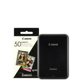 Canon Zoemini Slim Body Pocket-Sized Photo Printer inc 60 Prints - Black