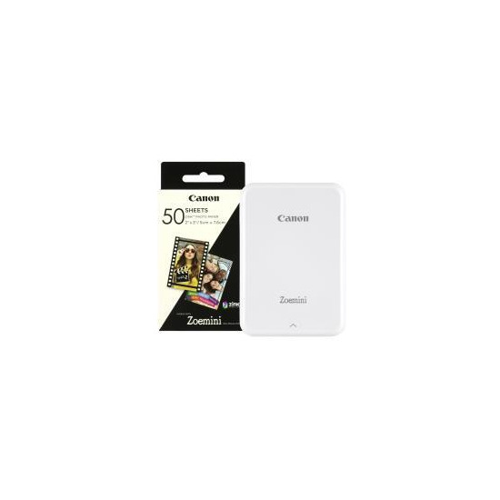 Canon Zoemini Slim Body Pocket-Sized Photo Printer inc 60 Prints - White