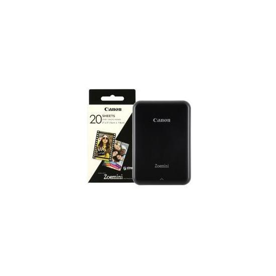 Canon Zoemini Slim Body Pocket-Sized Photo Printer inc 30 Prints - Black