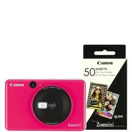 Canon Zoemini C 2-in-1 Instant Camera Printer inc 60 Prints - Bubble Gum Pink