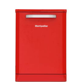 Montpellier MAB600R Full-size Dishwasher - Red Reviews