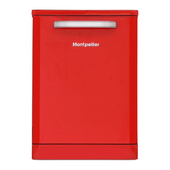 Montpellier MAB600R Full-size Dishwasher - Red