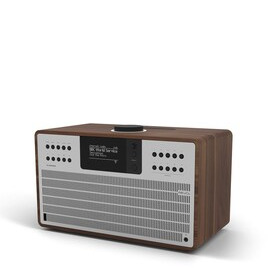 Revo SuperCD Walnut & Silver Ultimate One-Box Music System