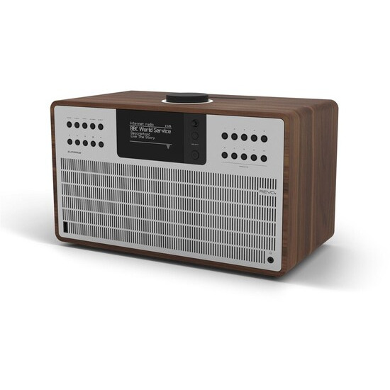 Revo SuperCD Walnut & Silver Ultimate One-Box Music System