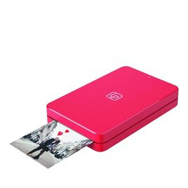 LifePrint Printer 2x3 Hyperphoto for iPhone & Android - Red with 10 Sheets