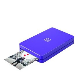 LifePrint Printer 2x3 Hyperphoto for iPhone & Android - Purple with 10 Sheets
