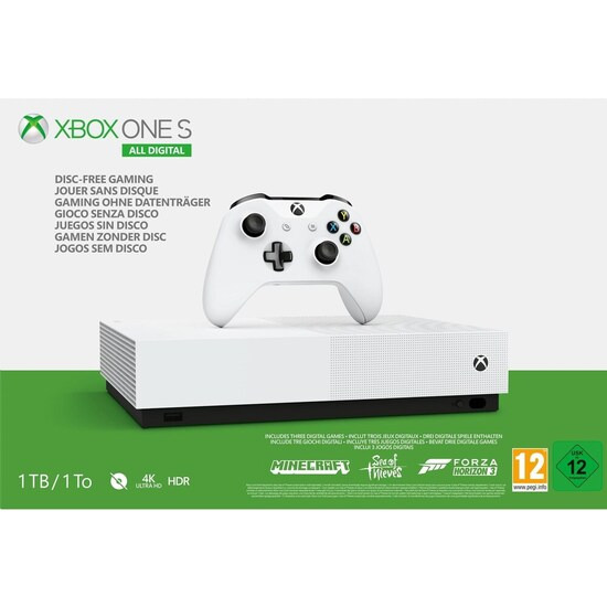 Xbox One S All-Digital Edition with Minecraft, Forza Horizon 3, Sea of Thieves & Xbox LIVE Gold Subscription