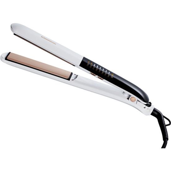 Grundig Touch Control HS7831 Hair Straightener - White & Rose Gold