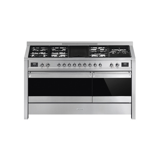 Smeg Opera A5-81 150 cm Dual Fuel Range Cooker - Stainless Steel