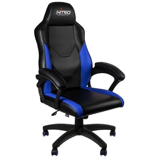 Nitro Concepts C100 Gaming Chair - Black & Blue