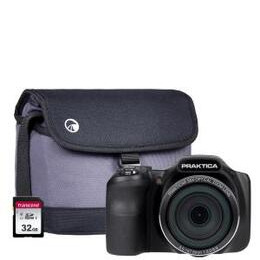 PRAKTICA Luxmedia Z35 Bridge Camera Kit inc 32GB SD Card and Case - Black