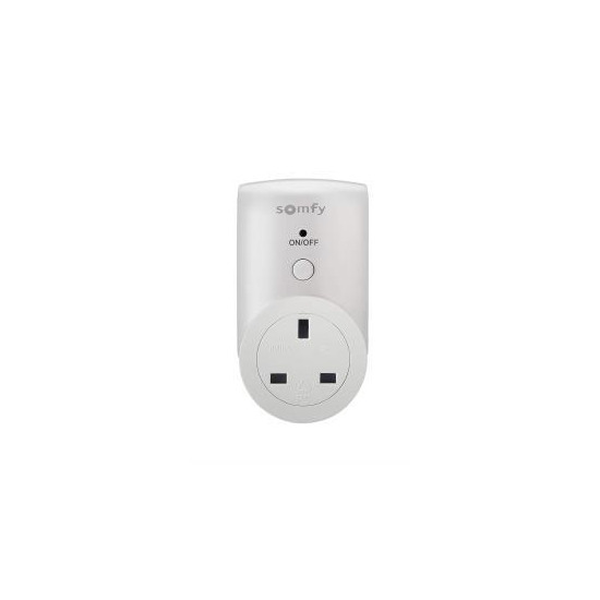 Somfy Remote-Controlled Electric Socket - White