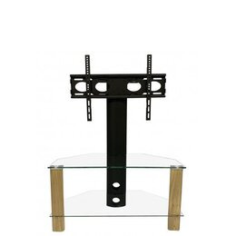 ALPHASON Century 800 mm TV Stand with Bracket - Light Oak