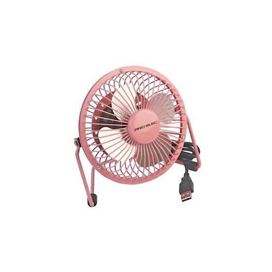 Pro-Elec PEL00857 4 Mini USB Desk Fan - Pink