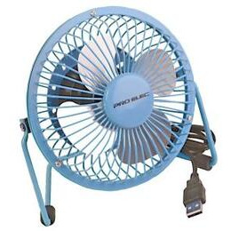 Pro-Elec 4 Mini USB Desk Fan - Blue