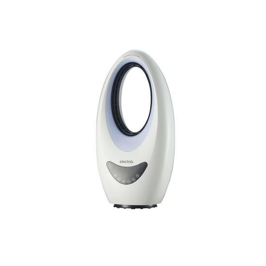 electriQ eiQ-AM09 24 inch Hot and Cool Bladeless Fan with Mood Light White