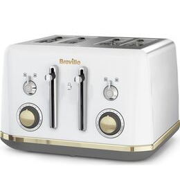 BREVILLE Mostra VTT937 4-Slice Toaster - White Reviews