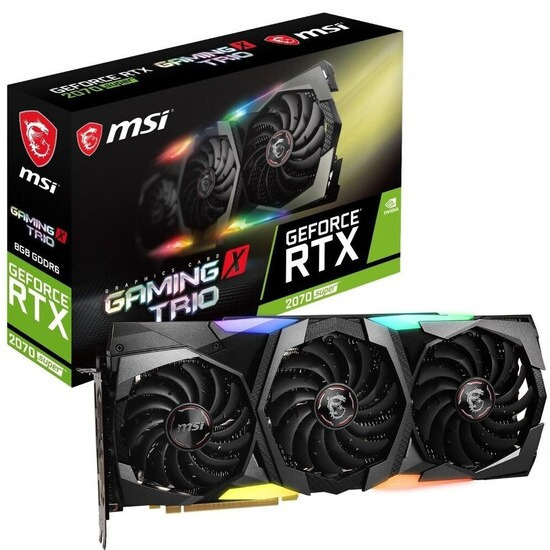 MSI GeForce RTX 2070 8 GB SUPER GAMING X TRIO Graphics Card