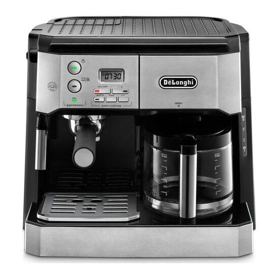 De'Longhi Combi BCO431.S Filter Coffee Machine - Silver & Black